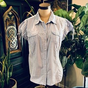 Tommy Hilfiger baby blue gingham button down